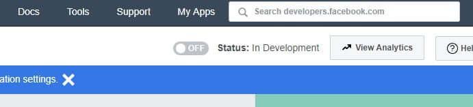 Turn on facebook app