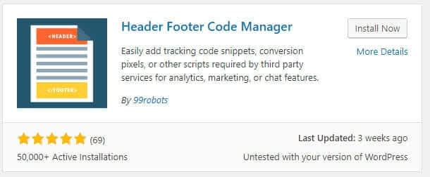 Header footer code manager WordPress plugins