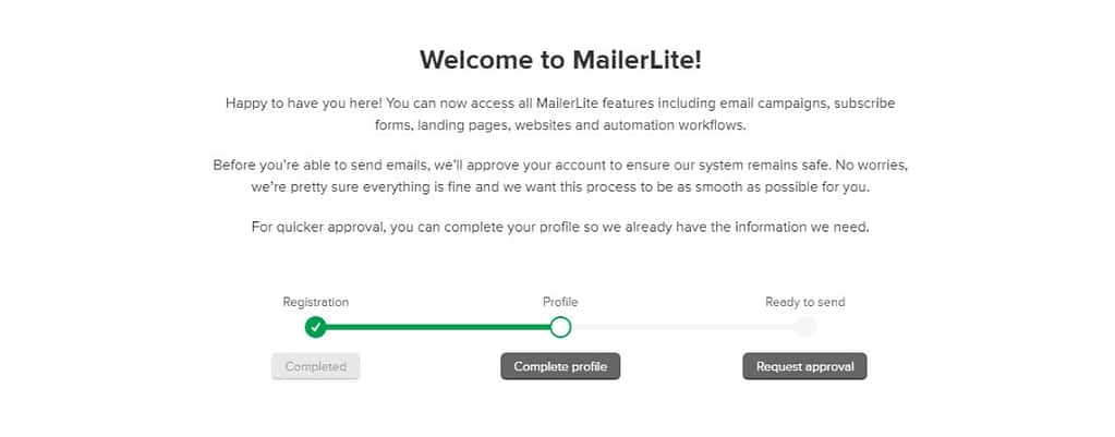 Mailerlite approval process