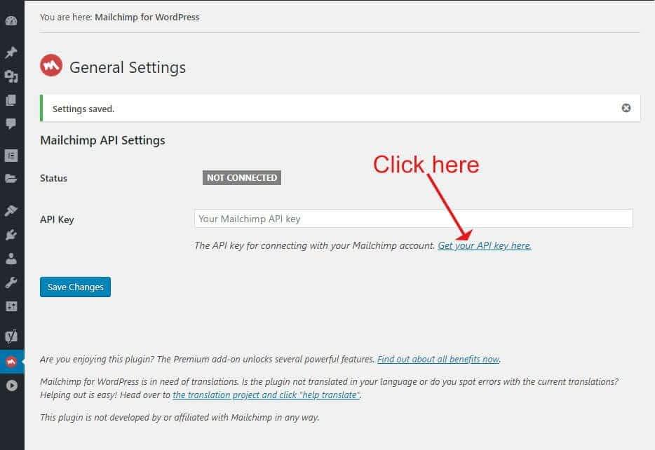 Mailchimp for WordPress Settings