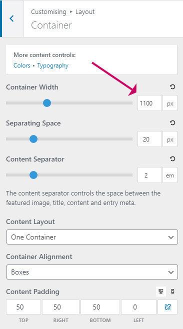 generatepress container width