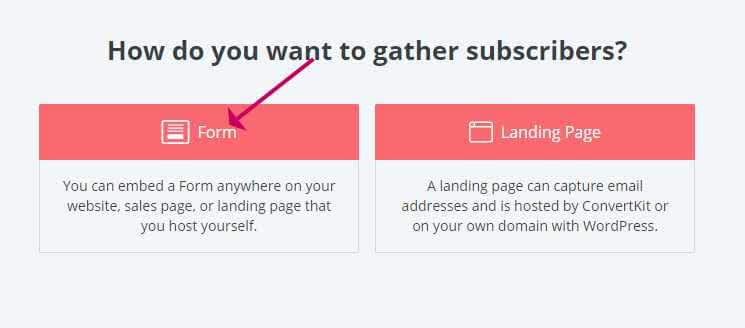 Choose the type of opt in form
