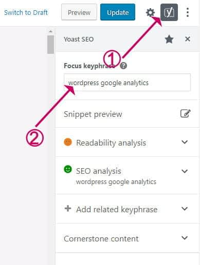 How to add the focus keyphrase to the Yoast Plugin