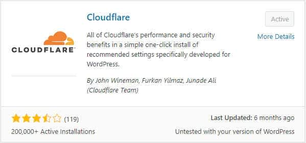 Cloudflare wordress plugin