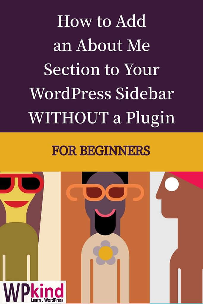 How to Add an About Me Section to Your WordPress Sidebar Without a Plugin