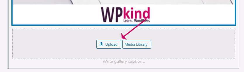 WordPress gallery block - insert additional image