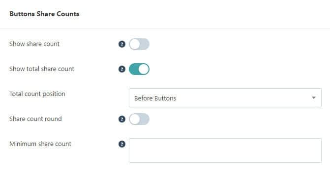 Grow Social Pro share count settings