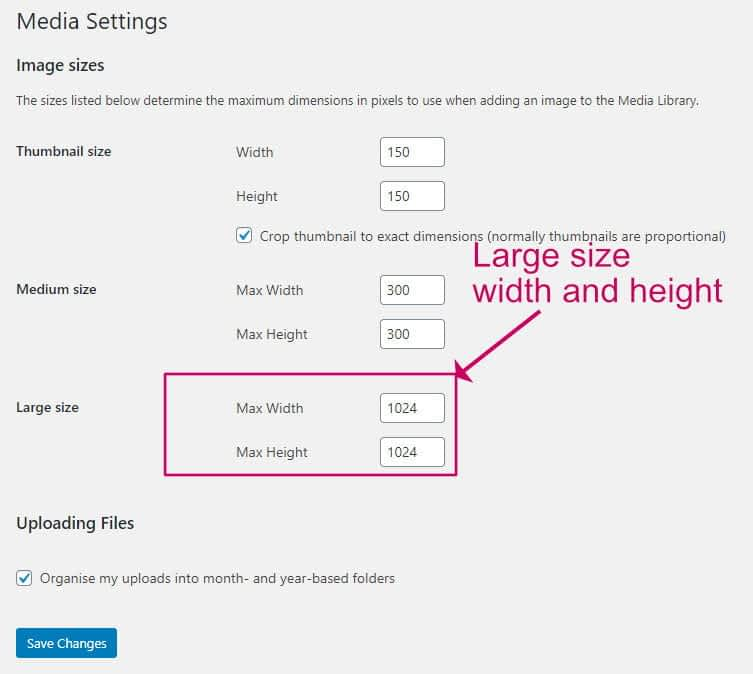 How to find the dimensions of WordPress image sizes