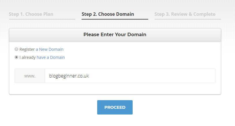 Siteground choose domain