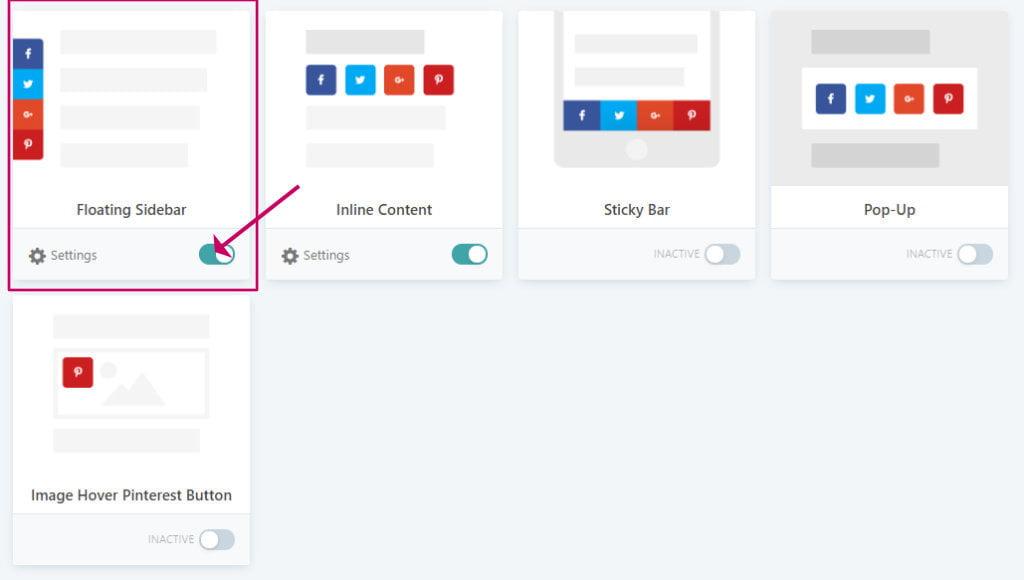 Grow social pro floating sidebar option