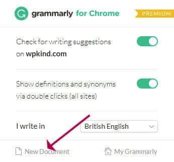 Grammarly - New Document