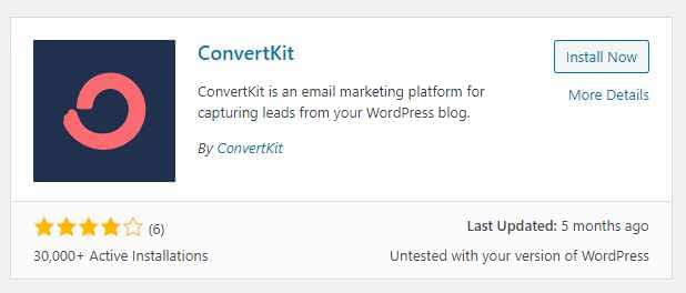Install the ConvertKit WordPress plugin