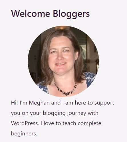 About me widget on WordPress sidebar