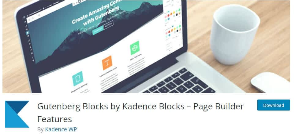 kadence blocks wordpress plugin
