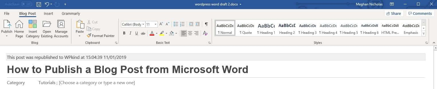 How to write articles with microsoft word