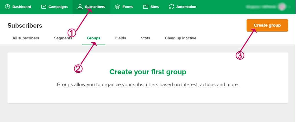 create a group in mailerlite