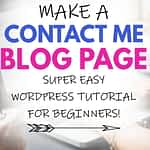 How to Make a Contact Me Blog Page