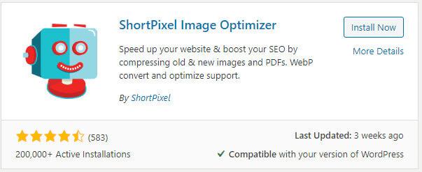 shortpixel wordpress plugin