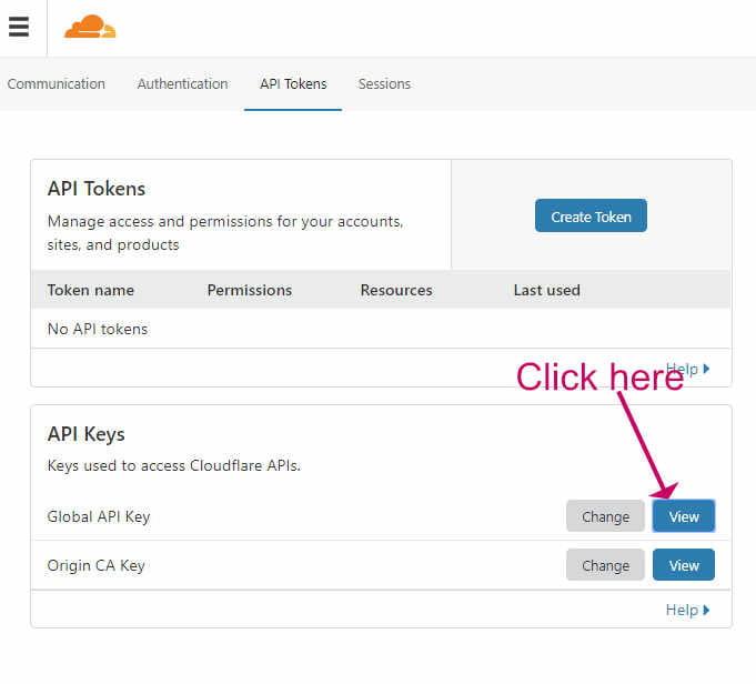Get Cloudflare API key