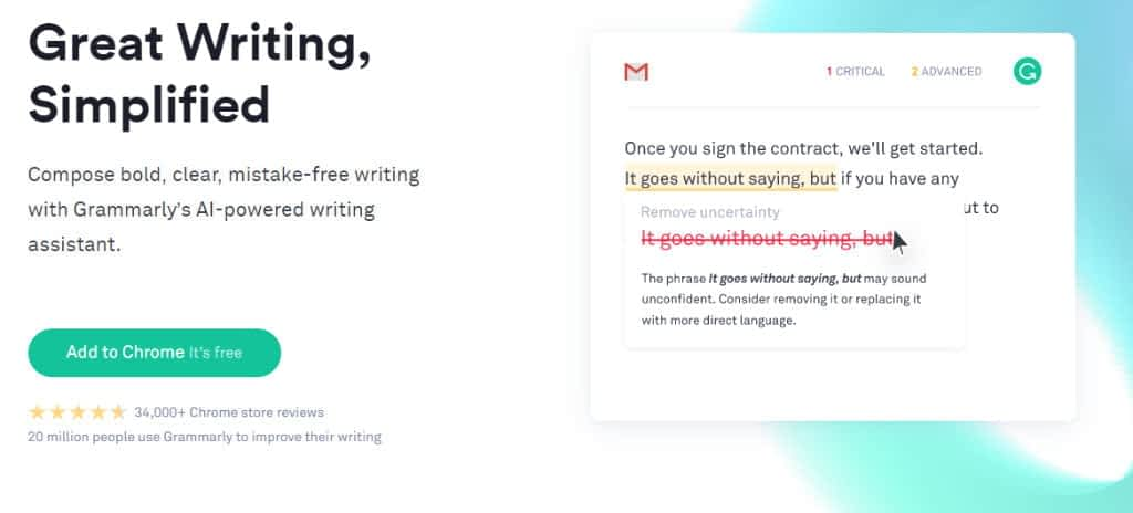 Grammarly grammer checker